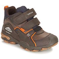 Schoenen Jongens Laarzen Geox BULLER ABX Bruin