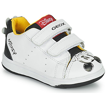 Schoenen Jongens Lage sneakers Geox NEW FLICK Wit / Zwart / Rood