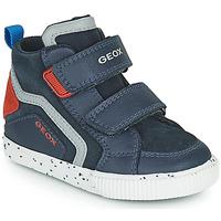 Schoenen Jongens Hoge sneakers Geox KILWI Marine