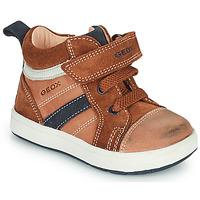 Schoenen Jongens Hoge sneakers Geox BIGLIA Bruin