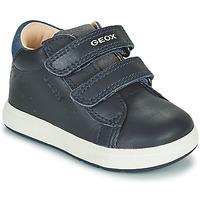 Schoenen Jongens Lage sneakers Geox BIGLIA Marine