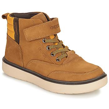Schoenen Jongens Laarzen Geox RIDDOCK WPF Camel