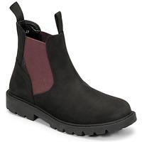 Schoenen Jongens Laarzen Geox SHAYLAX Zwart / Bordeau