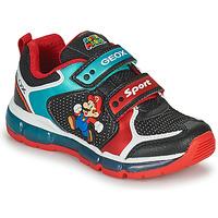 Schoenen Jongens Lage sneakers Geox ANDROID Zwart / Blauw / Rood