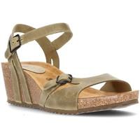 Schoenen Dames Sandalen / Open schoenen Interbios W Sandaal comfortabele anatomische vrouw KAKI