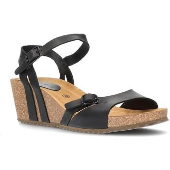 Schoenen Dames Sandalen / Open schoenen Interbios W Sandaal comfortabele anatomische vrouw ZWART