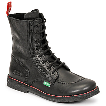 Schoenen Dames Hoge laarzen Kickers MEETICKZIP Zwart / Mat