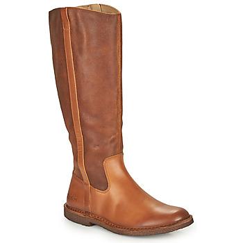 Schoenen Dames Hoge laarzen Kickers TINTTA Camel