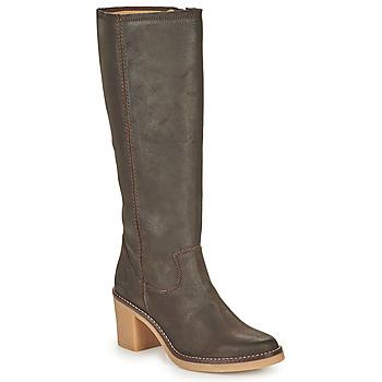 Schoenen Dames Hoge laarzen Kickers AVEDRIM Bruin