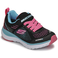 Schoenen Meisjes Lage sneakers Skechers ULTRA GROOVE Zwart / Roze / Blauw