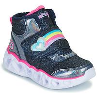 Schoenen Meisjes Hoge sneakers Skechers HEART LIGHTS Marine / Led