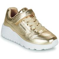 Schoenen Meisjes Lage sneakers Skechers UNO LITE Goud