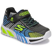 Schoenen Jongens Lage sneakers Skechers FLEX-GLOW ELITE Zwart / Blauw / Led