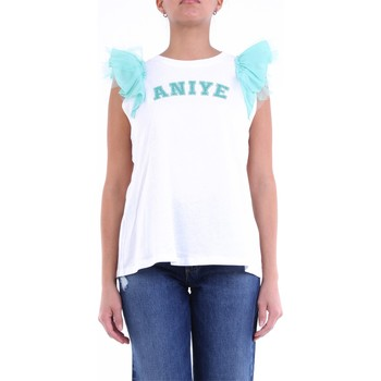 Textiel Dames Tops / Blousjes Aniye By PO8185075 White and teal