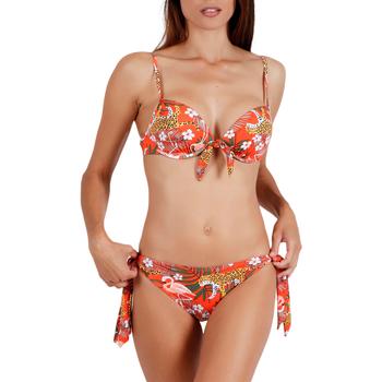 Textiel Dames Bikini Admas 2-delig voorgevormd bikinisetje Jungle Fever oranje Oranjeange