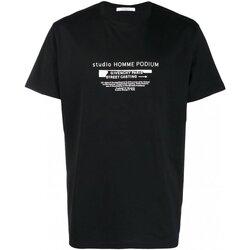 Textiel Heren T-shirts korte mouwen Givenchy BM70SC3002 Zwart