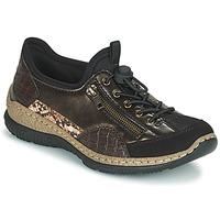 Schoenen Dames Lage sneakers Rieker ALINDA Bruin