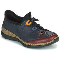 Schoenen Dames Derby Rieker ENCORRA Blauw / Rood / Geel