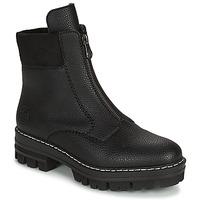 Schoenen Dames Laarzen Rieker QUAMIN Zwart