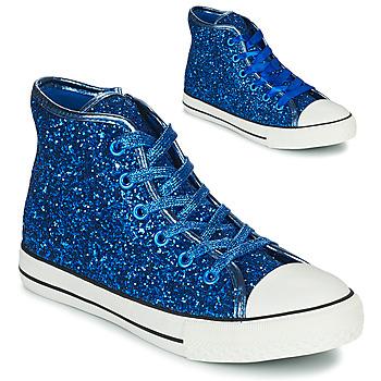 Schoenen Meisjes Hoge sneakers Citrouille et Compagnie OPIU Blauw