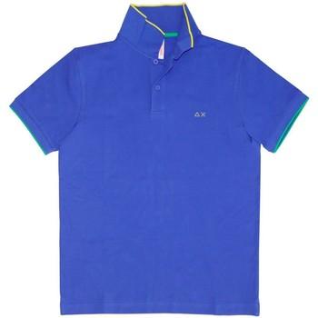 Textiel Heren Polo's korte mouwen Sun68  blauwe