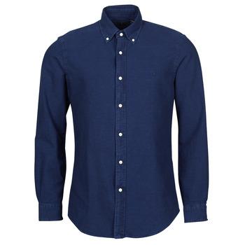 Textiel Heren Overhemden lange mouwen Polo Ralph Lauren TRENNYB Fluweel / Blauw
