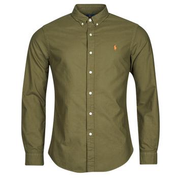 Textiel Heren Overhemden lange mouwen Polo Ralph Lauren DRISSY Kaki
