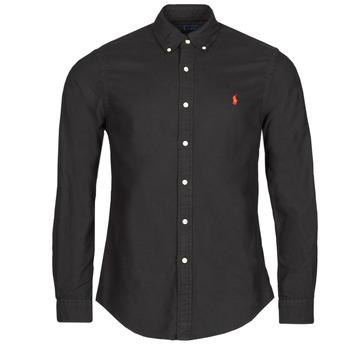 Textiel Heren Overhemden lange mouwen Polo Ralph Lauren CAMISETA Zwart