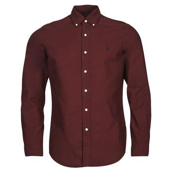 Textiel Heren Overhemden lange mouwen Polo Ralph Lauren KAOLMA Bordeau