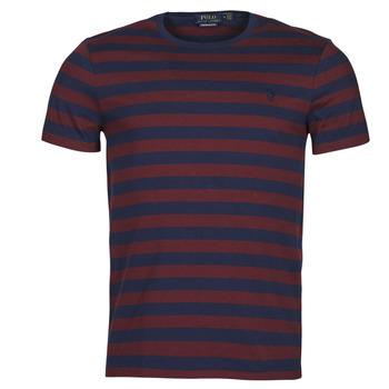 Textiel Heren T-shirts korte mouwen Polo Ralph Lauren POLINE Marine / Bordeau