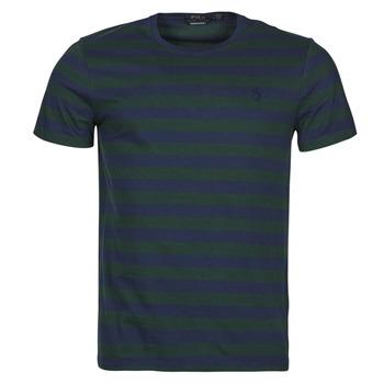 Textiel Heren T-shirts korte mouwen Polo Ralph Lauren POLINE Marine / Groen