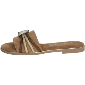Schoenen Dames Leren slippers Marco Tozzi 2-27117-36 Brown leather