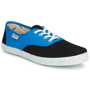 Schoenen Lage sneakers Victoria INGLESA BICOLOR Blauw / Zwart