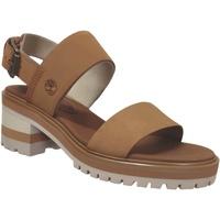 Schoenen Dames Sandalen / Open schoenen Timberland Violet marsh backstrap 2 Lichtbruin