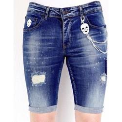 Textiel Heren Korte broeken / Bermuda's Local Fanatic Korte Spijkerbroek Stretch Blauw