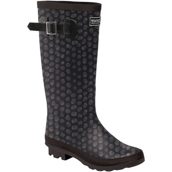 Schoenen Dames Regenlaarzen Regatta Fairweather Zwarte afdruk