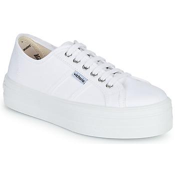 Schoenen Dames Lage sneakers Victoria BLUCHER LONA PLATAFORMA Wit