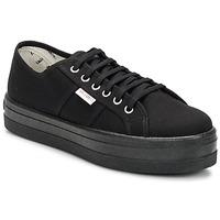 Schoenen Dames Lage sneakers Victoria BLUCHER LONA PLATAFORMA Zwart