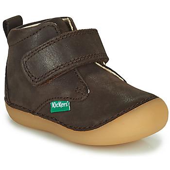 Schoenen Jongens Laarzen Kickers SABIO Bruin