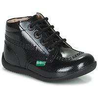 Schoenen Meisjes Laarzen Kickers BILLISTA ZIP Zwart