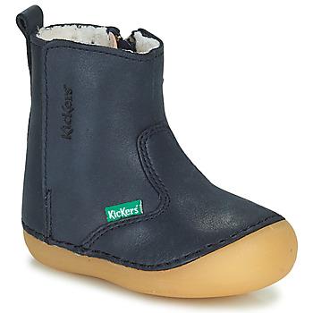 Schoenen Meisjes Laarzen Kickers SOCOOL CHO Marine