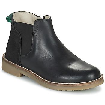 Schoenen Meisjes Laarzen Kickers NY KICK Zwart