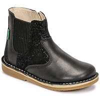 Schoenen Meisjes Laarzen Kickers MAELIO Zwart