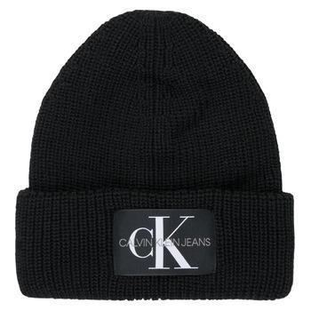 Accessoires Dames Muts Calvin Klein Jeans MONOGRAM BEANIE WL Zwart