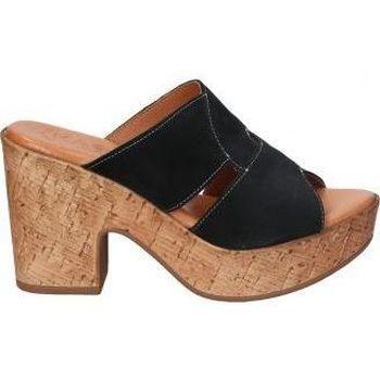 Schoenen Dames Leren slippers Tarke SANDALIAS KAOLA- 893 SEÑORA NEGRO Noir
