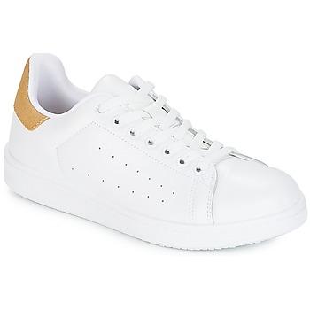 Schoenen Dames Lage sneakers Yurban SATURNA Wit / Goud