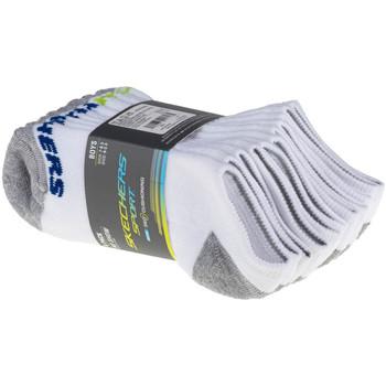 Accessoires Kinderen Sokken Skechers Boys 6pk No Show Socks Blanc
