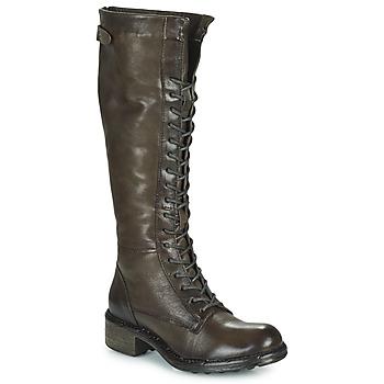 Schoenen Dames Hoge laarzen Dream in Green NUCRE Grijs