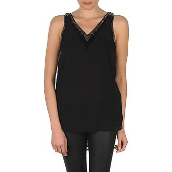 Textiel Dames Mouwloze tops Vero Moda PEARL SL LONG TOP Zwart