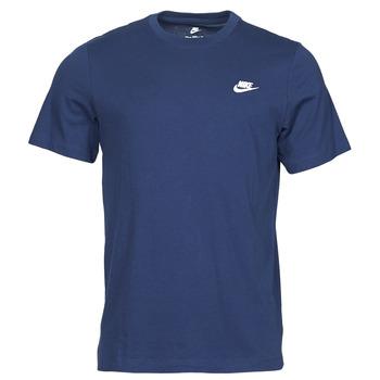 Textiel Heren T-shirts korte mouwen Nike NIKE SPORTSWEAR CLUB Blauw / Wit